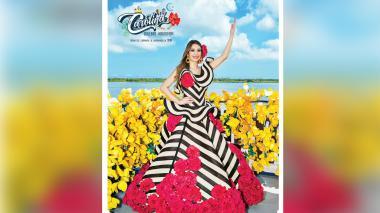 La reina Carolina Segebre presenta su afiche de Carnaval