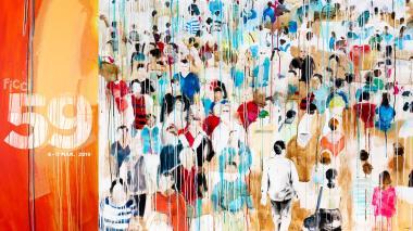 La imagen está inspirada en una obra de la artista cartagenera Diana Herrera.