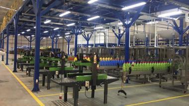 Instalaciones de la nueva planta de productos de aseo y cosméticos de la firma Berhlan ubicadas en Galapa.