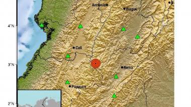 Sismo de 5,4 sacude varias zonas del centro y sur del país