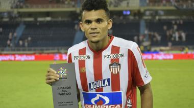 Luis Díaz, el mejor jugador del partido de ayer.