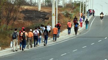 La 'peregrinación' de los trabajadores en la Circunvalar