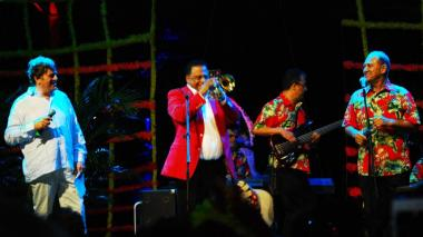 Wilfrido Vargas durante su participación en el Carnaval de las Artes 2018.