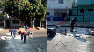 Comenzó instalación de reductores de velocidad en Los Andes