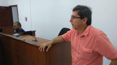 Delio Nieto ayer en sus declaraciones en el Centro de Servicios Judiciales.