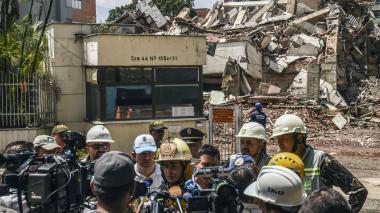 Lo que había detrás del edificio Mónaco, derribado este viernes en Medellín