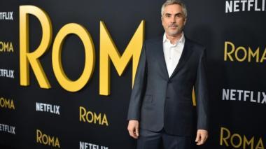 Alfonso Cuarón en el lanzamiento oficial de la nominada cinta 'Roma'.