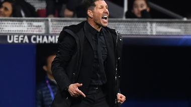Simeone pidió disculpas por su gesto en celebración de un gol