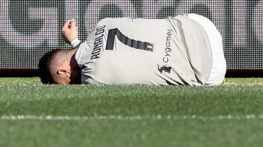 Cristiano Ronaldo lesionado.