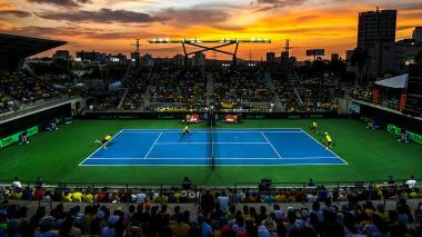 Encuentro de Copa Davis en el Parque de Raquetas en 2018. Al final, Colombia venció a Brasil en la serie.
