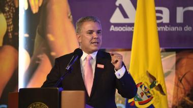 El presidente Iván Duque durante la instalación de la Vitrina Turística de Anato.