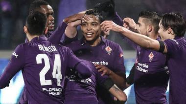 Luis Fernando Muriel continúa en racha goleadora con la Fiorentina