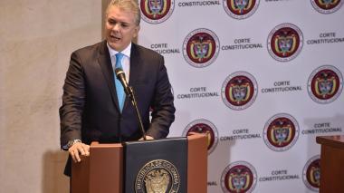 El presidente Iván Duque ante la Corte Constitucional.