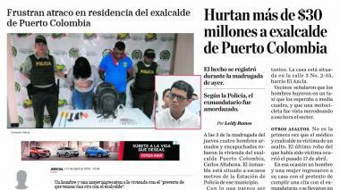 Registros de noticias publicadas por EL HERALDO acerca de los atracos.
