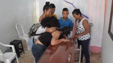 El joven hincha fue velado en su residencia ubicada en el barrio Santuario, al sur de Barranquilla.