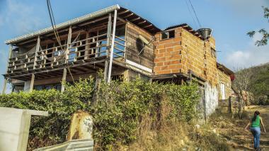 Esta es la vivienda del barrio Vista Mar de Puerto Colombia que alcanzó a construir el italiano Bartolomeo D'addario en 2014.