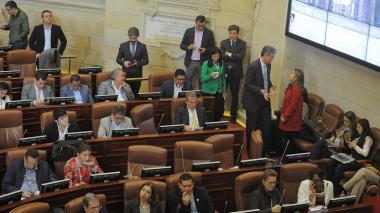 Vista de la sesión de la Comisión del Senado en la que se votó el PND.