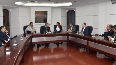 Reunión de congresistas con el presidente Iván Duque.