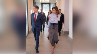 La reina Rania de Jordania se viste de Silvia Tcherassi