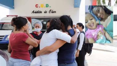 Familiares de Durley Patricia Romero Diago y su hija Keivis Michelle, ambas asesinadas.