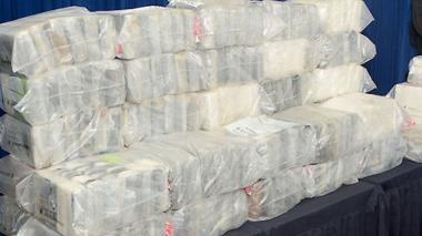 Cocaina incautada por la policía.