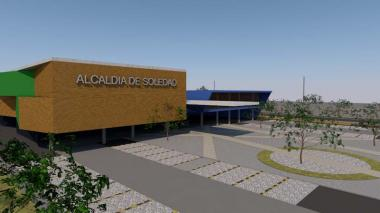 Render de la fachada de la Alcaldía de Soledad.