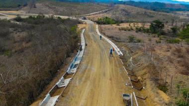 Obras en la vía entre Tubará, Guaimaral y Paluato avanzan en un 45%