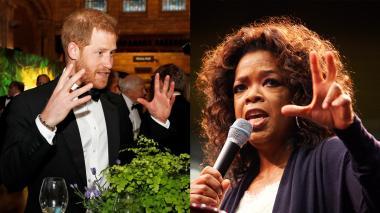 El príncipe Enrique, duque de Sussex y la presentadora estadounidense Oprah Winfrey.