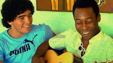 Maradona desea a Pelé una pronta recuperación