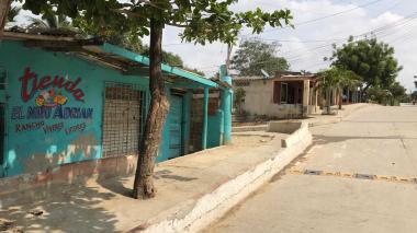 Tienda 'El Niño Adrián', lugar donde se registró el ataque a bala.