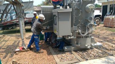 Normalizado servicio de energía en Guamal, Magdalena