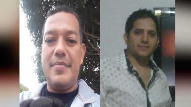 Olaf Campo, asesinado, y Luis Alberto Castillo Bornacelly, herido.