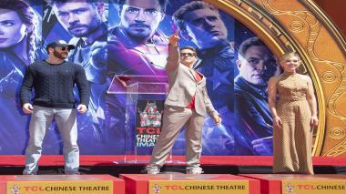 """Downey Jr. recibió este homenaje en cemento por primera vez en 2009 cuando estrenó """"Sherlock Holmes""""."""