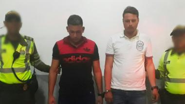 Luis Hidalgo y Jonathan Guanare Q., capturados.