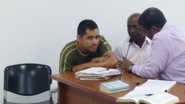 Johan Niebles Torres durante las audiencias preliminares.