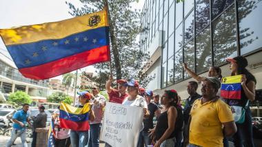Migrantes en Barranquilla salen a respaldar la 'Operación libertad'