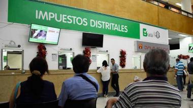 Oficina de recaudos de la Administración distrital, ubicada en el primer piso.