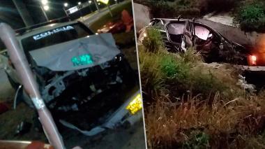 Accidente de tránsito entre patrulla de la Policía y carro particular deja nueve heridos