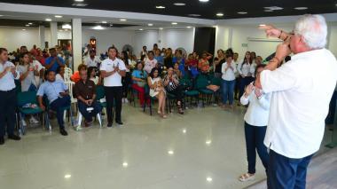El acalde de Soledad, Joao Herrera, durante durante la audiencia de rendición de cuentas.