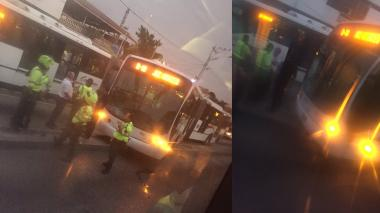 Cruce indebido de peatón habría causado incidente con bus de Transmetro