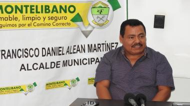 El alcalde de Montelíbano, Francisco Alean Martínez.