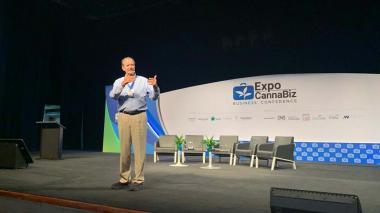 Vicente Fox en su conferencia de ayer en Cartagena.
