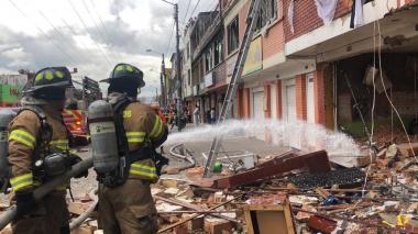 Un colegio y 16 casas afectadas tras la explosión en Bogotá
