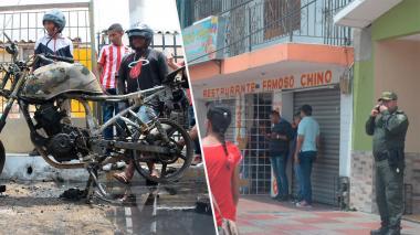 Con helicóptero y dron Policía busca a delincuentes que intentaron robar en un restaurante en Las Nieves