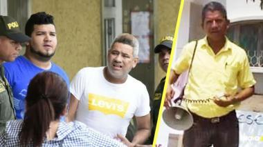 Javier Renán Pabón y Jeffrey Madera Maldonado, procesados por el crimen del líder social Luis Barros Machado, ocurrido en julio de 2018.