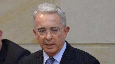 El líder del Centro Democrático Álvaro Uribe.
