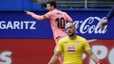 El Barça cierra la Liga con un empate ante el Eibar y doblete de Messi