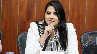Laura Fortich, senadora del partido Liberal.