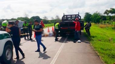 Dos muertos tras chocar contra un camión en Cereté