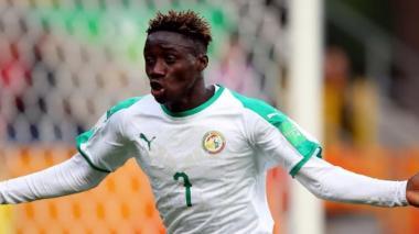 Amadou Sagna marcó todos los goles de Senegal.